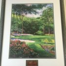 """Ken Call """"13th at Augusta"""" Watercolor Limited Print, Signed, Framed, 18"""" x 23"""""""