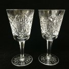"Pair Waterford Crystal Clare Pattern White Wine Goblets, 5 5/8"" Tall, 2 3/4"" Dia"