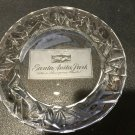 "Tiffany & Co Santa Anita Park 1996-1997 Crystal Glass Plate, 8"" Diameter"
