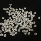 "100 Vintage Murano Italy Crystal Glass Beads Prism Lamp Parts, 1/2"" Dia (1.2 cm)"