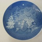 """1981 B & G Copenhagen Porcelain """"Christmas  Peace"""" Plate, Made In Denmark, 7"""" D"""