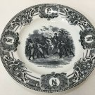 "Napoleon Plate by Keramis B.F Belgium Plate, Napoleon Haranguant Les, 9 1/4"" Dia"