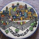 "Vintage Jerusalem Souvenir Tile Porcelain Trivet Plate, 6 1/2"" Diameter"
