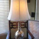 Vintage Mid Century Hollywood Regency Design Marbro Porcelain Lamp With Shade