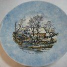"""Vtg """"Winter In The Country"""" Currier And Ives Handpainted By Marc Bellaire Plate"""