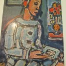 """VINTAGE GEORGES ROUAULT FULL COLOR PRINT """"THE WISE PEIRROT"""", 10"""" X 7 3/4"""""""
