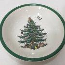 """Spode Christmas Tree Fruit / Dessert Bowl w/Green Trim, 6 1/4"""" Dia x 1 1/4"""" High"""