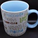 2007 Starbucks Light Blue Cappuccino Americano Latte Mocha Coffee Mug