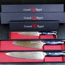 """Kitchen Knife Set Japanese Damascus Stainless Steel 8"""" Chef Cutlery Butcher Pro"""