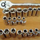 "Crescent 20 pc Socket set 1/4"" drive 6 PT Wrench Cooper"