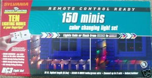 Sylvania 300 Mini Lights Christmas Clear Multi 62'