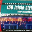 Sylvania 150 Icicle Lights Christmas Clear Multi