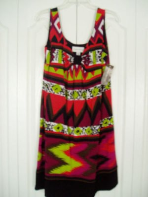 Ronni Nicole Dress 12P Petite Print Sleeveless New