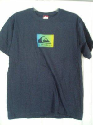 Quiksilver Kids Childrens T Shirt Top Navy Blue XL NEW