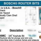 Bosch Router Bit Keyhole Jointing Cabinetry Woodworking