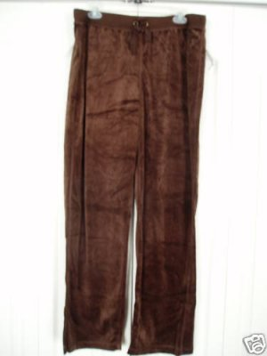Three Hearts Drawstring XL Brown Velour 36 waist New 3