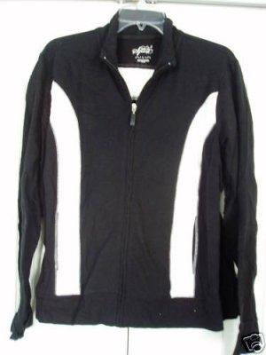 Style & Co Sport Jacket XL  Black White Zipper New
