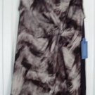 Simply Vera Wang Dress Large Gray Brown Print Tank NEW