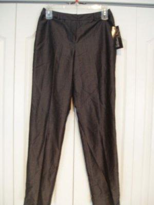 Jones New York Pants Slacks 4P Pinstripe Wool Slate NEW