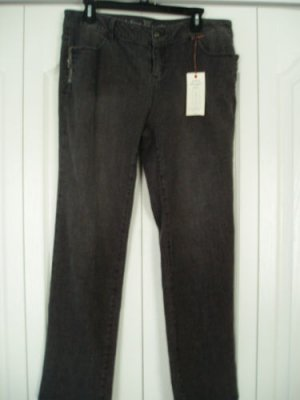 Simply Vera Wang Jeans Dungaree Denim Pants 14P Grey