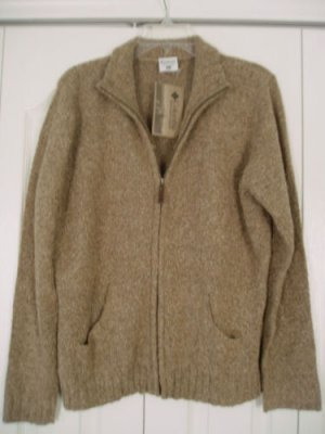 Columbia Sportswear Sweater XL Brown Zipper Acrylic NEW