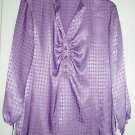 J M Collection Top Shirt 10 JM 3/4 Sleeve Violet NEW