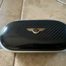 "Bentley Genuine OEM Eye Glass Case Dark Carbon Fiber/ Black ""Black"" Leather"