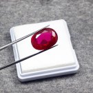 12.15ct natural ruby shape oval certified loose gemstone