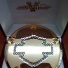 "26159-4172-317GLD Harley Davidson Point Cover Gold-Plated 14k  Swarovski ""Bar N' Shie.."""