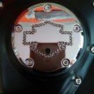"""26159-4172-317CHR Harley Davidson Twincam Swarovski Point Cover CHROME  """"Bar N' Shie.."""""""