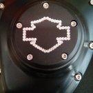"26159-4172-317BLK Harley Davidson Twincam Swarovski Point Cover BLACK ""Bar N' Shie.."""