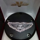 "26159-4162-317BLK Harley Davidson Twincam Swarovski Point Cover BLACK  ""Ladies Of Harley"""