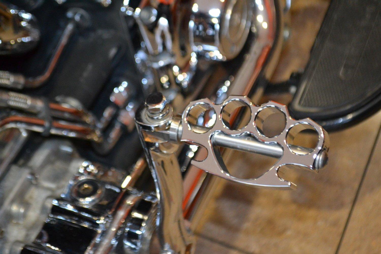 11936-165-4112-POL Harley Davidson Kicker Pedal Knuckleduster POLISHED