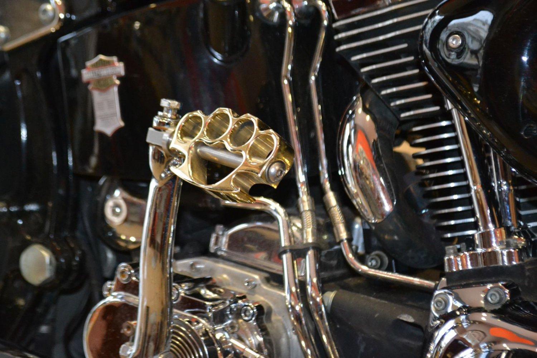 11936-165-4112-BRS Harley Davidson Kicker Pedal Knuckleduster BRASS POLISHED
