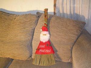 Christmas Broom Santa