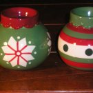 Christmas Ornament Tea Light Candle Holders