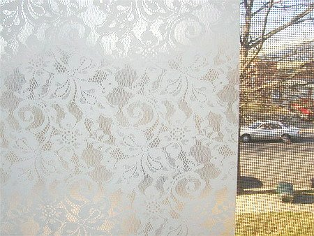 Victorian lace window film for Decorative window film stained glass victorian