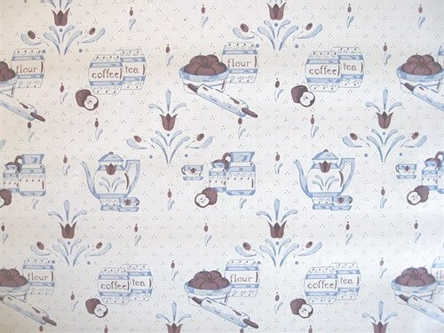 KITCHEN TEATIME CONTACT PAPER SELF-ADHESIVE SHELF LINER