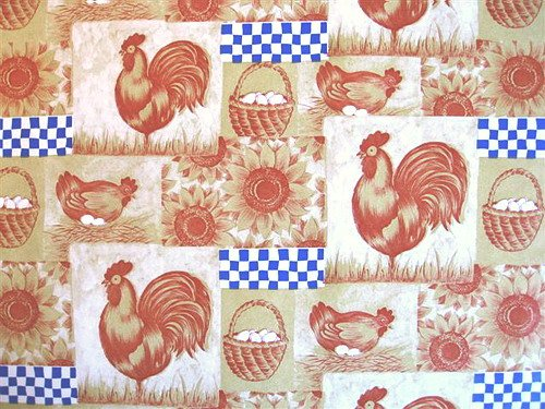 FARM ROOSTER KITCHEN CONTACT PAPER SHELF LINER COVERING