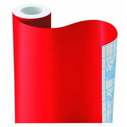 RED FIRE ENGINE SOLID CONTACT PAPER DRAWER SHELF LINER