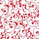 Virtu Red Scroll Contact Paper C9Q33