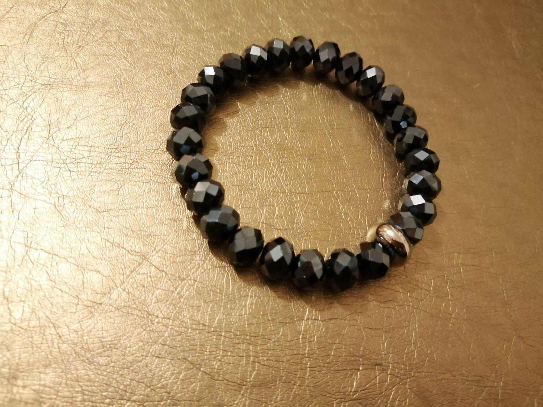 Black ab hematite crystal bracelet