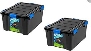 Ziploc 60 Qt Weathershield Storage Box Black White 2 Pack