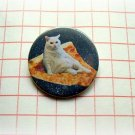 Space pizza cat - 1.5 inch pinback button, clip or magnet