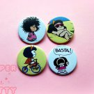 Mafalda ~ CHOOSE 1 ~ - 1.5 inch pinback button, clip or magnet