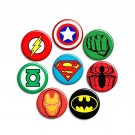 Superhero ~ SET OF 8 ~ - 1.5 inch pinback button, clip or magnet