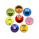 Sesame Street ~ SET OF 8 ~ - 1.5 inch pinback button, clip or magnet