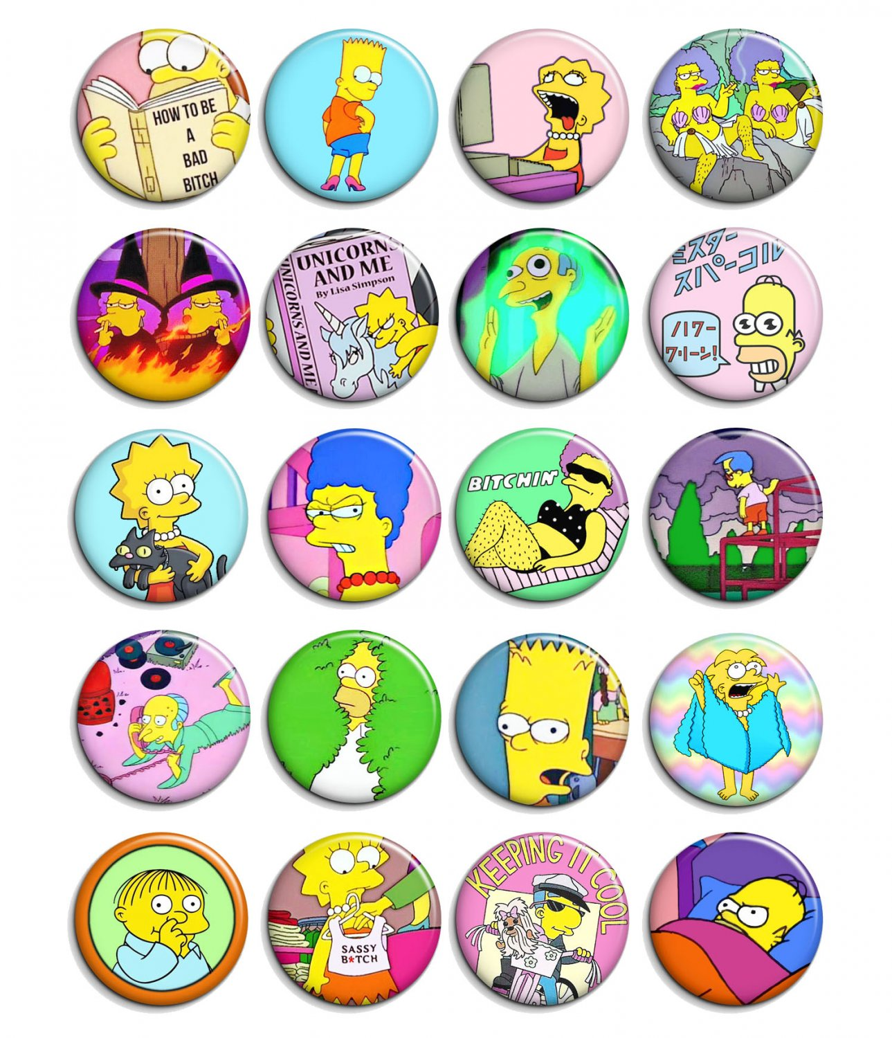 The Simpsons ~ CHOOSE 1 ~ - 1.5 inch pinback button, clip or magnet
