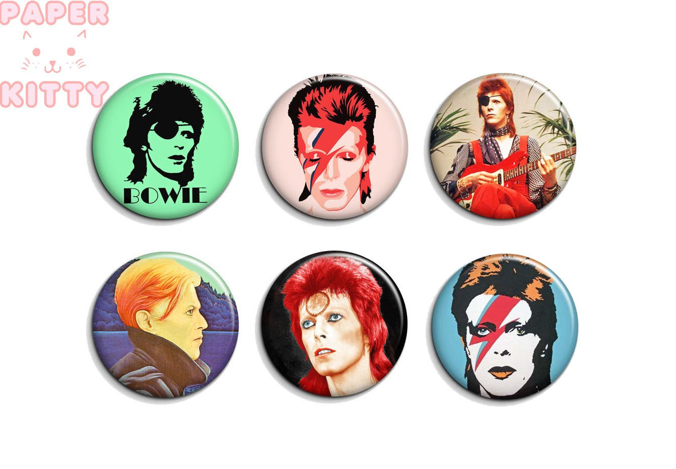 David Bowie ~ CHOOSE 1 ~ - 1.5 inch pinback button, clip or magnet