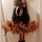 Witch Wreath with orange and black legs